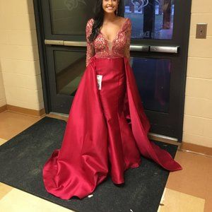 Jovani Red Pageant Dress